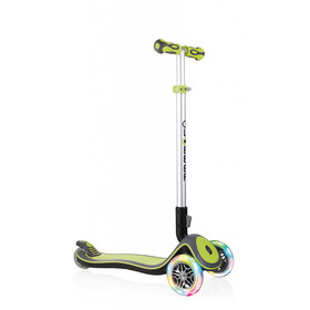 Globber Elite Deluxe Scooter with battery-free LED wheels Kids, green